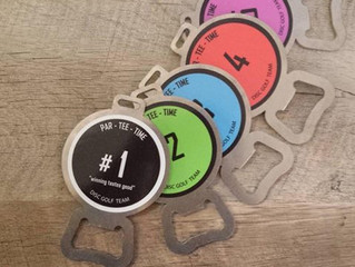 DISC GOLF BAG TAGS for PAR TEE TIME