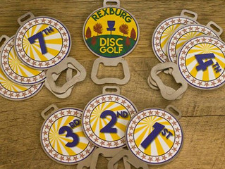 DISC GOLF BAG TAGS for REXBURG DGC 2016