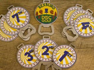 DISC GOLF BAG TAGS for REXBURG DGC 2016