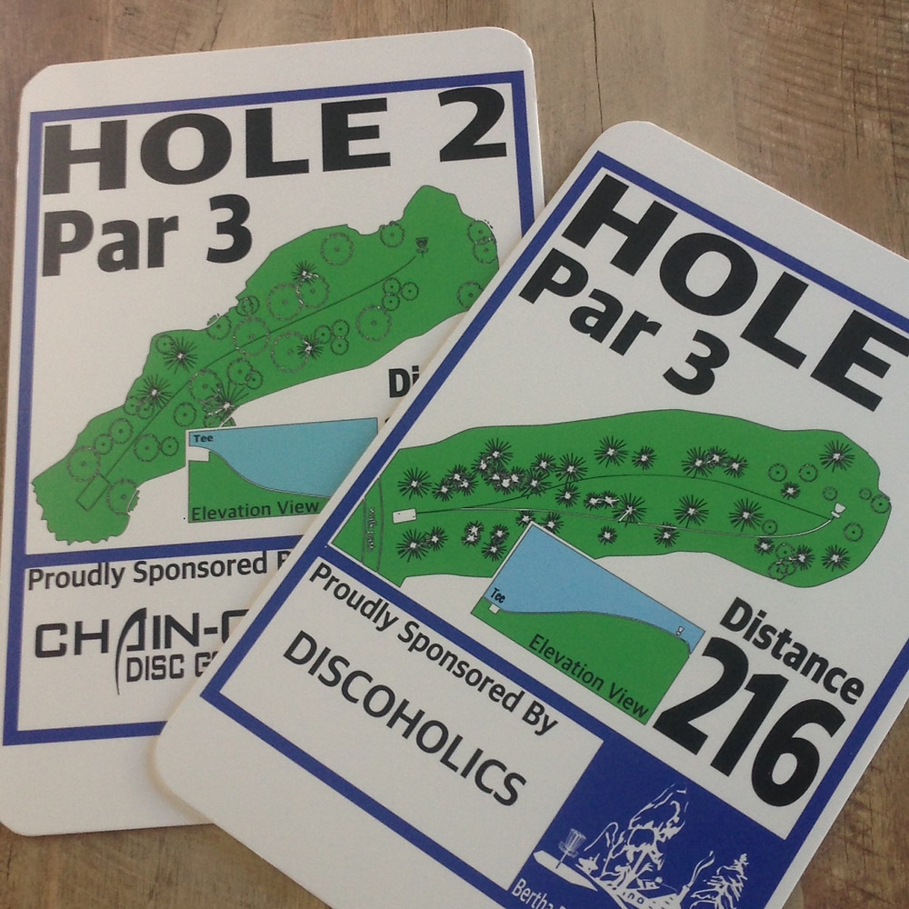 Custom Disc Golf Signs