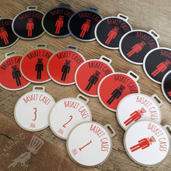Disc golf bag tags for basket cases dgc. Order for your club at www.616disc