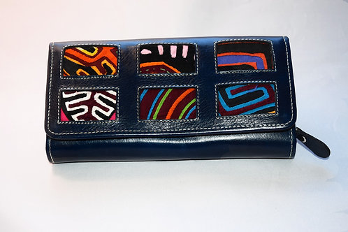 Six Square Mola Wallet - Dark Blue
