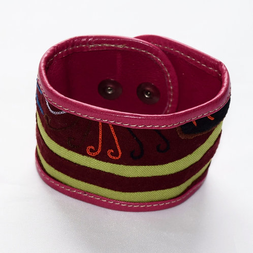 Mola and Leather Bracelets