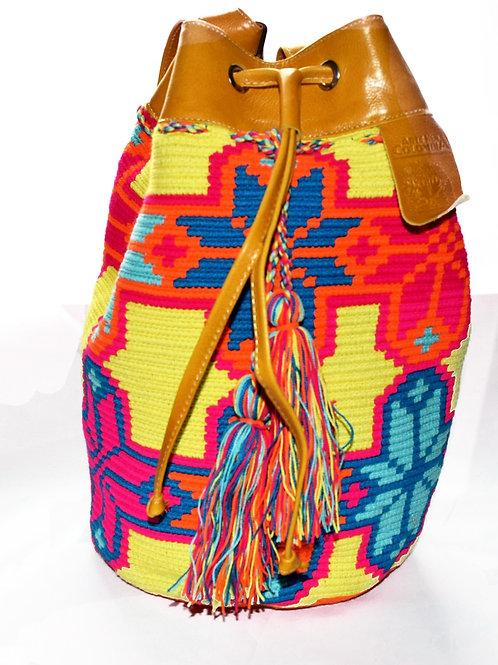 Wayuu Mochila with Leather