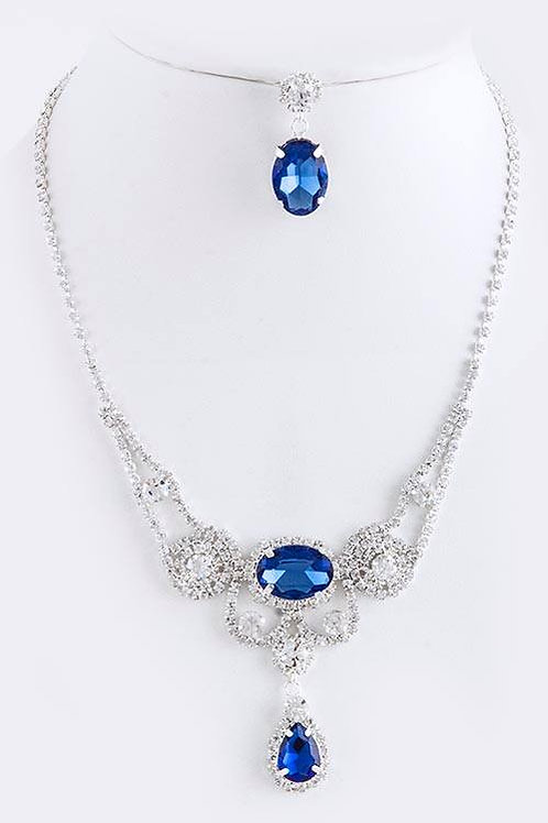 CLASSIC CRYSTAL BIB NECKLACE SET