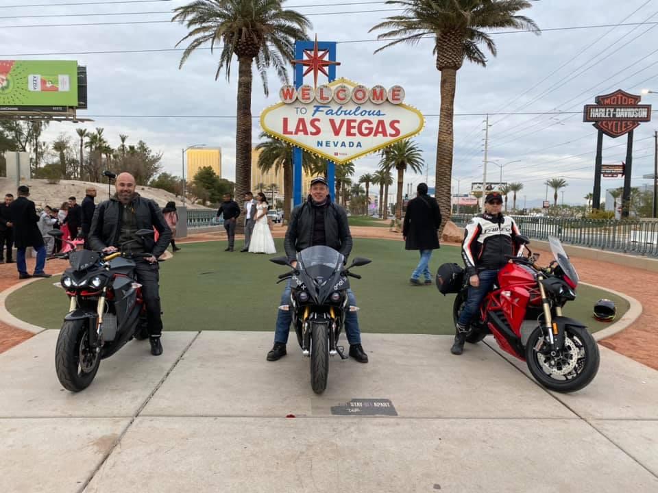 Energica Ego+ EVA Ribelle race winner cannonball run Las Vegas Sign