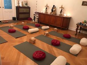 Der schöne Yogaraum