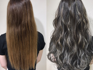 ヘアカラー before after