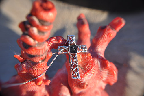 100% Sterling Silver Aromatherapy Cross