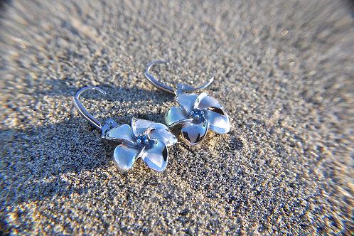 Sterling Silver Aromatherapy Flower Earrings
