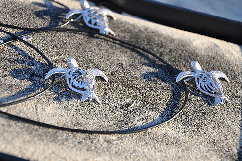 HONU (turtle) Sterling Silver Aromatherapy Necklace
