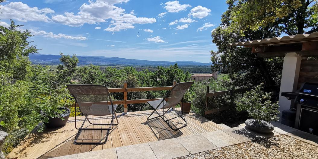 terrasse et vue panoramique