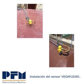 Sensor VEGAFLEX81 medición en tanque de Diesel