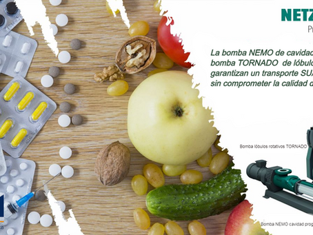 Bombas Netzsch para industria alimenticia y famaceútica.