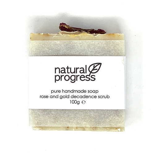 Rose and Gold Decadence Scrub