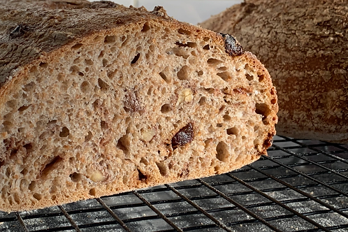 Walnut and date sourdough loaf