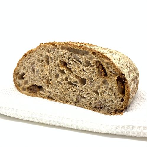 Fig and walnut sourdough loaf