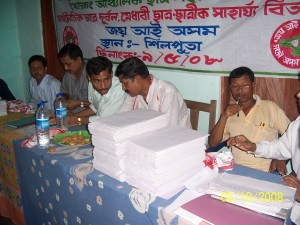 Students study material distribution