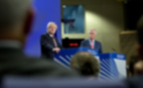 Michel Barnier and David Daivs at the European Council