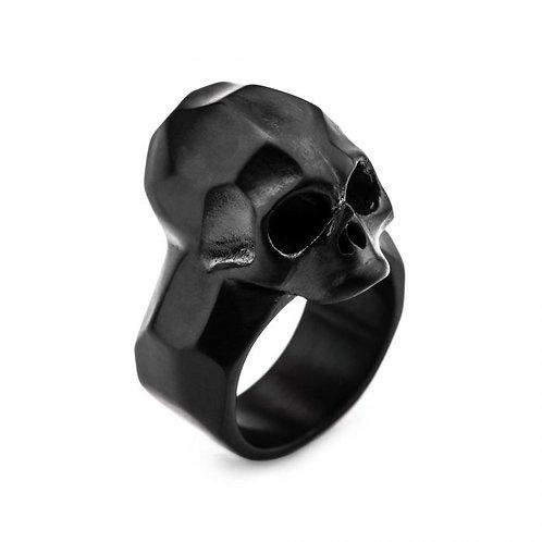 Anillo calavera - Negro