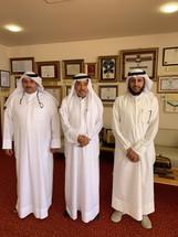زيارة الدكتور مشاري الحربي والدكتور عبيد المطيري للعم والاديب والشاعر عبدالعزيز البابطين
