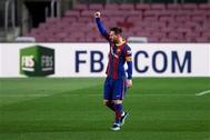 ميسي يقود برشلونة للفوز على إلتشي بثلاثية