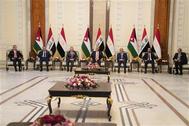 قادة العراق ومصر والأردن يتفقون في ختام قمتهم في بغداد على ضرورة التنسيق الثلاثي