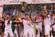 أولمبي الأردن يفوز بكأس بطولة غرب آسيا على حساب السعودية