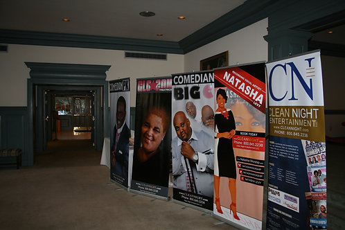 34x79 Retractable Banner with Bag!