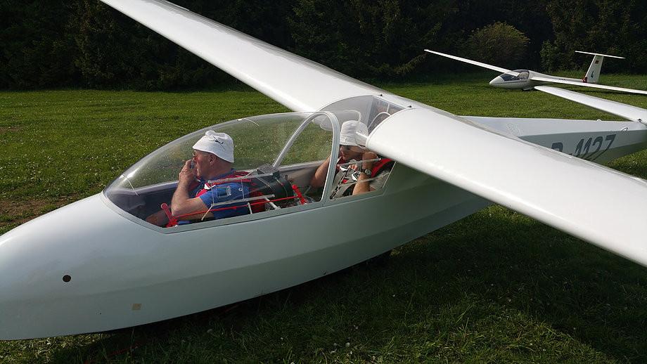 Ludwig Simon während der Fluglehrervorausbildung