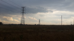 Overhead power lines South Africa