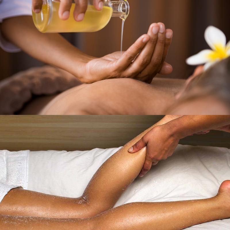 Massage dos, jambes