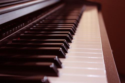 WINTER WEATHER WONDERING - piano backing