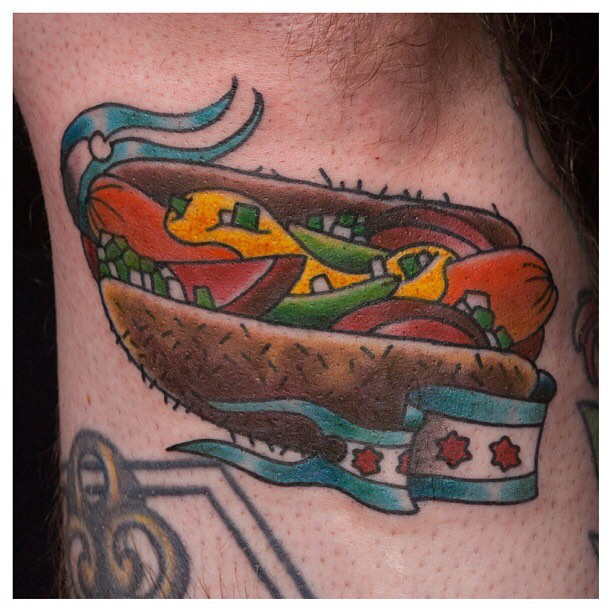 Got to do this Chicago dog on my great friend on partner Jake #ryanhenereytattoos #ragtimetattoo #ry