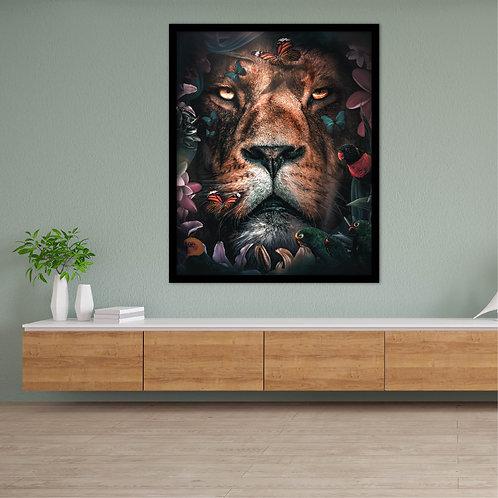 Flora Lion Canvas