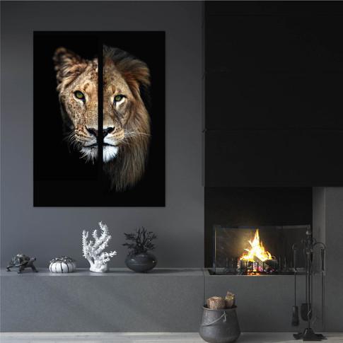 Male female lion 75x100cm-04.jpg