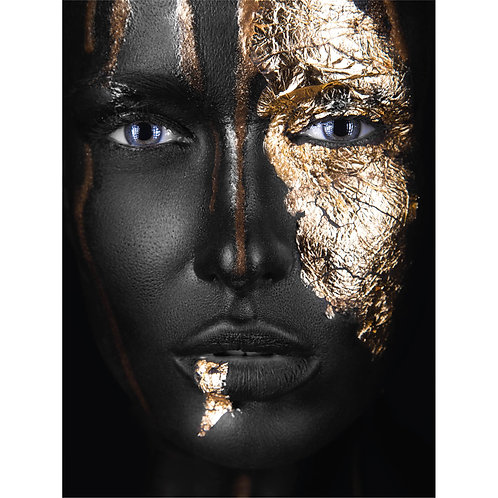 A Face with Gold