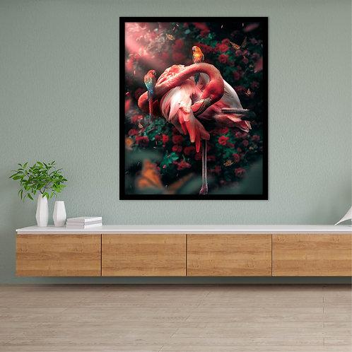 Funky Flamingo Canvas