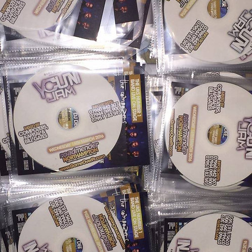 100 Cds & flyers Printed and packed in sleeves