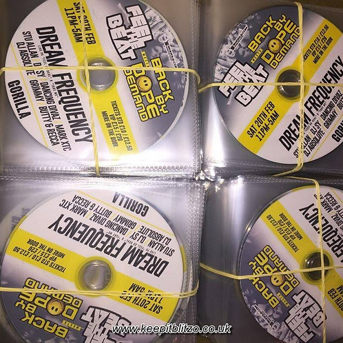 500 Cds with part colour text Printed on the cds