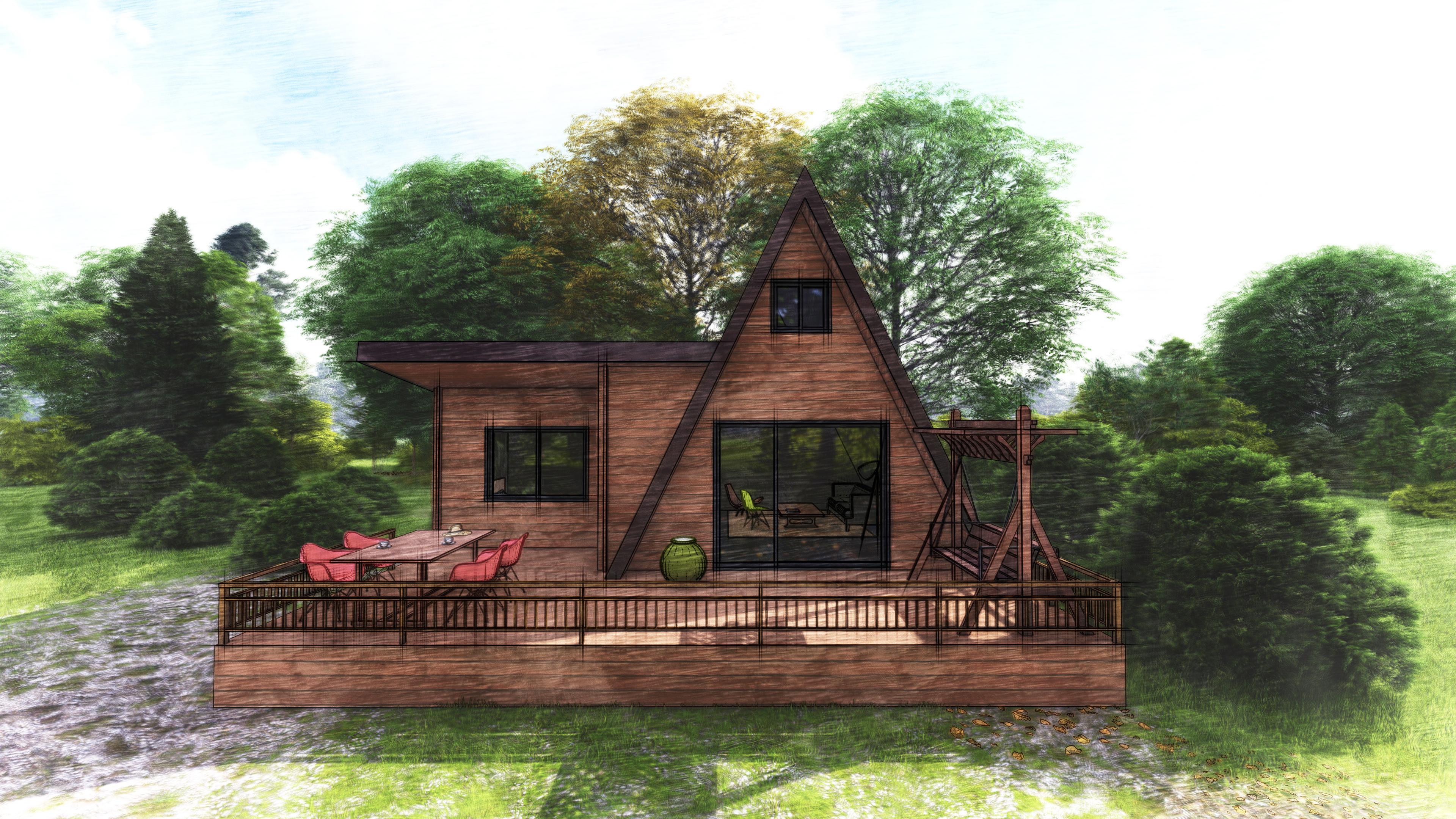А-фрейм летний дом