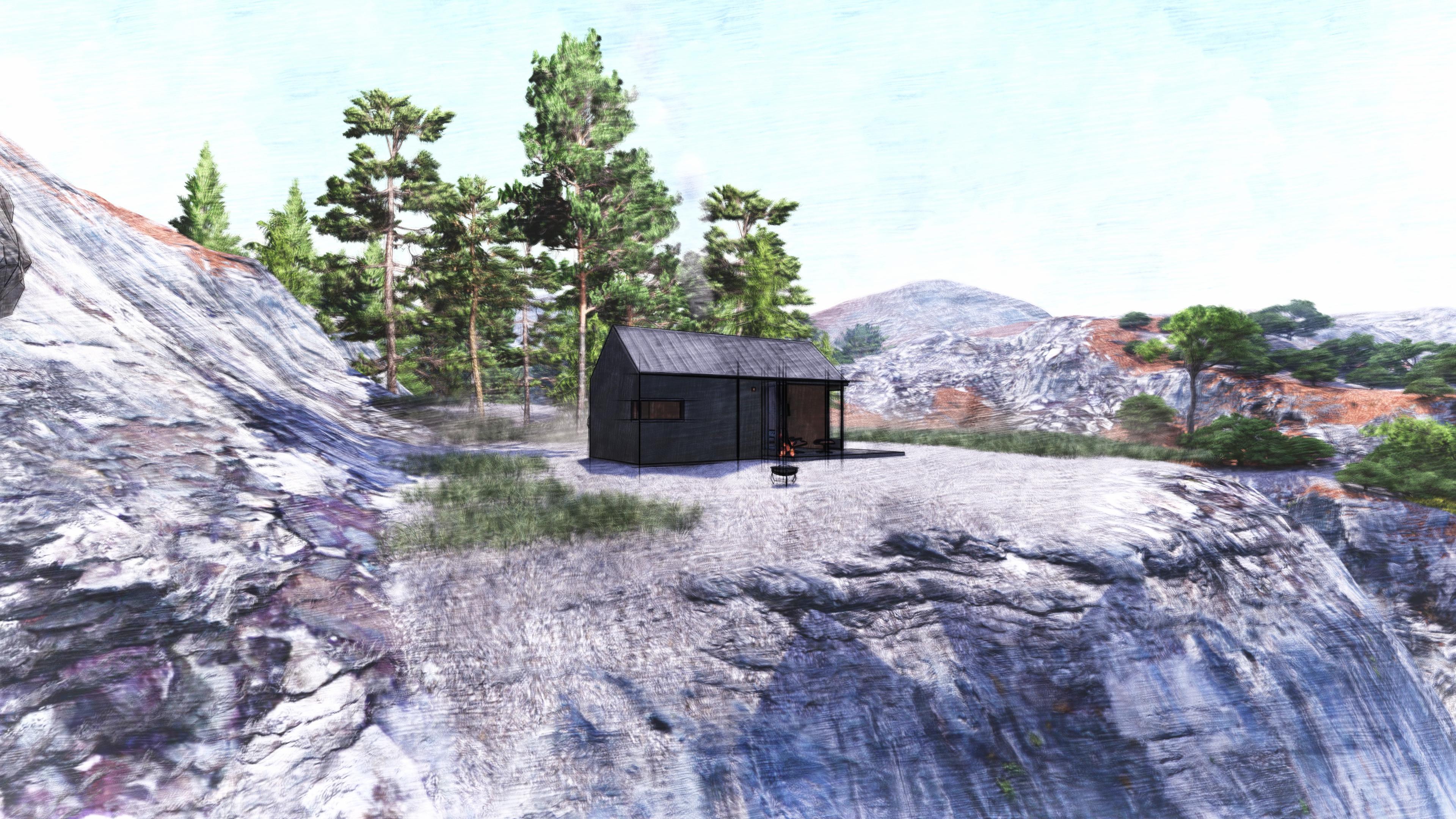 Модульный дом в стиле barnhouse