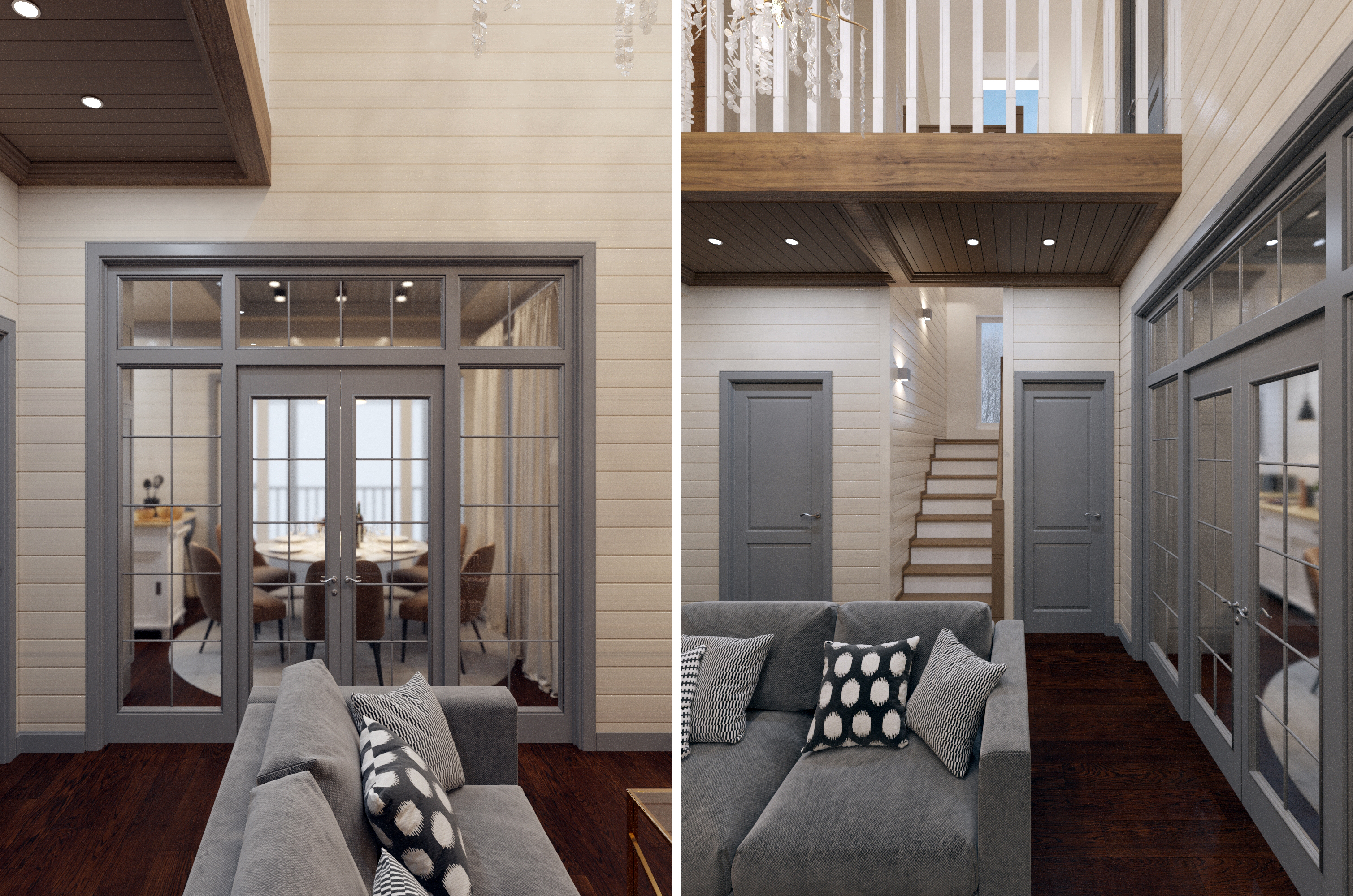 Дизайн проект каркасного дома