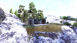 Зимний дом в стиле barnhouse
