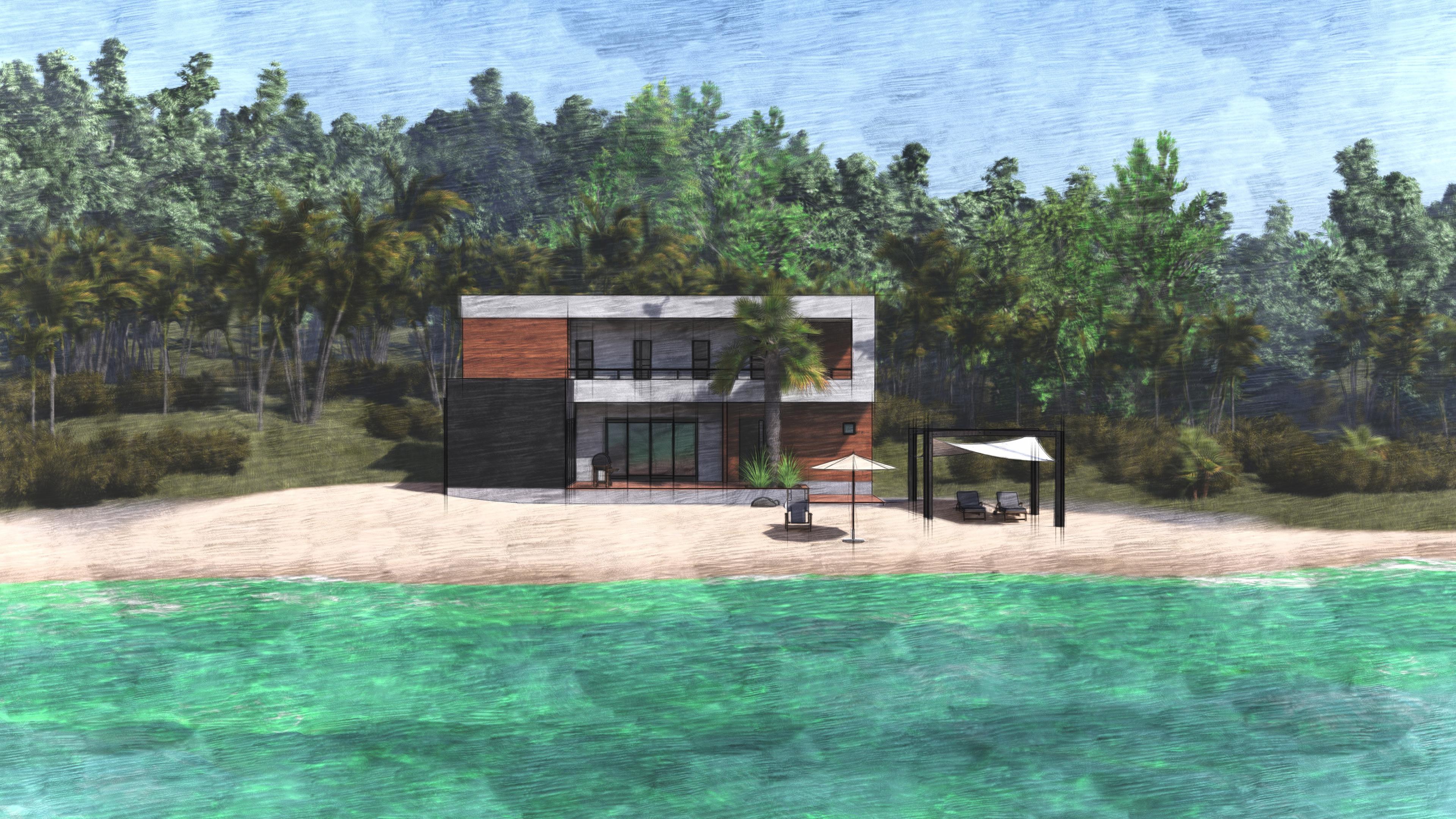 Дом у моря с террасой