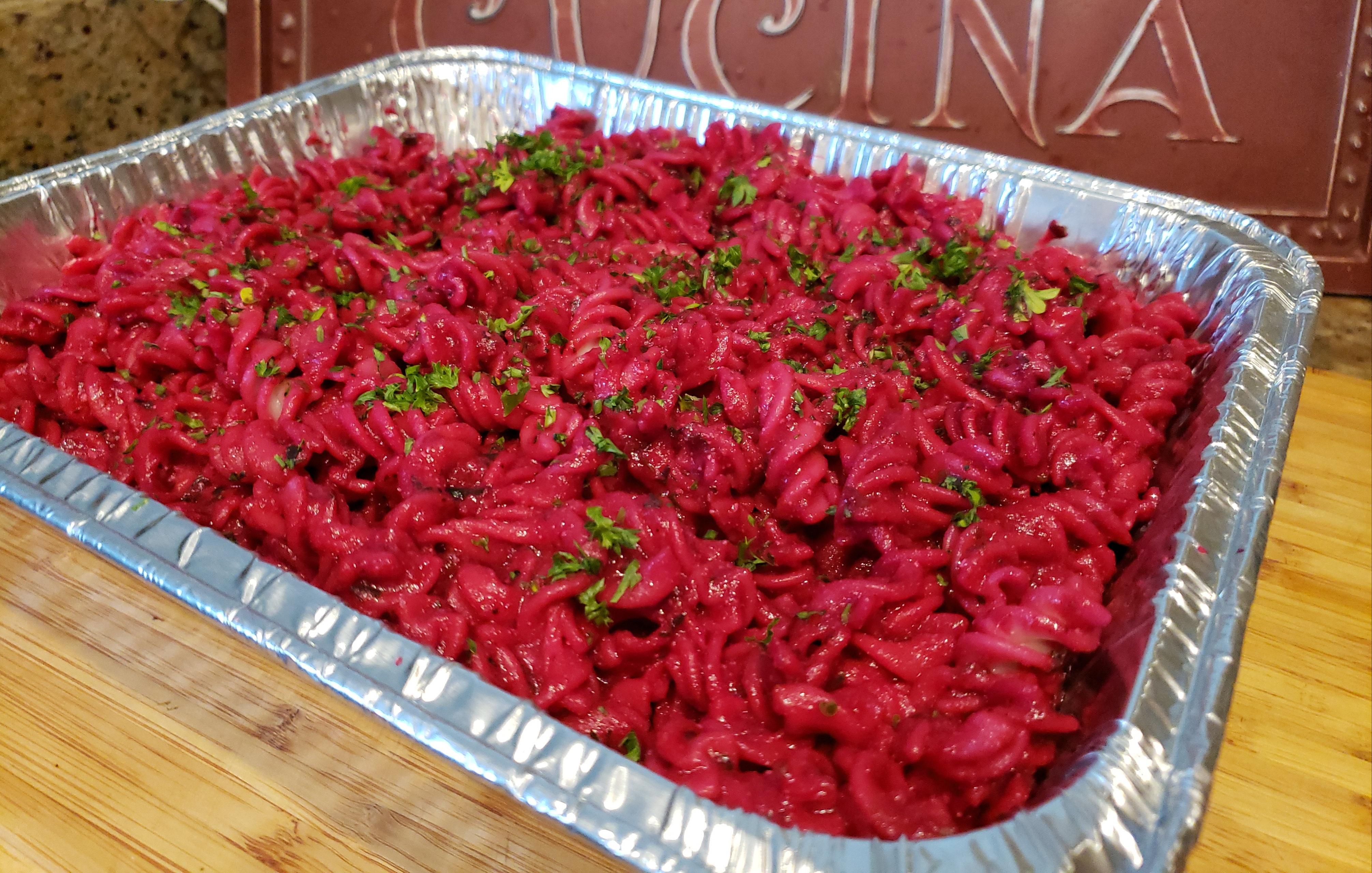 Gluten Free Beet Marinara Pasta