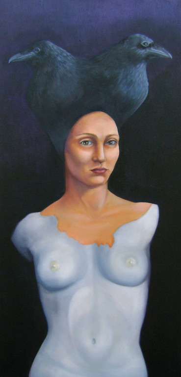 """Annabel oil on canvas 28"""" x 12"""" 2009 09 Sold"""