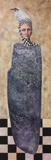 "The Alchemist oil on canvas 72"" x 24"" 2015"