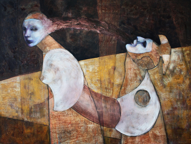 """Dialogue oil on canvas 30"""" x 40"""" 2010"""