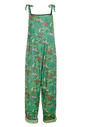 Dungarees - Green Butterfly